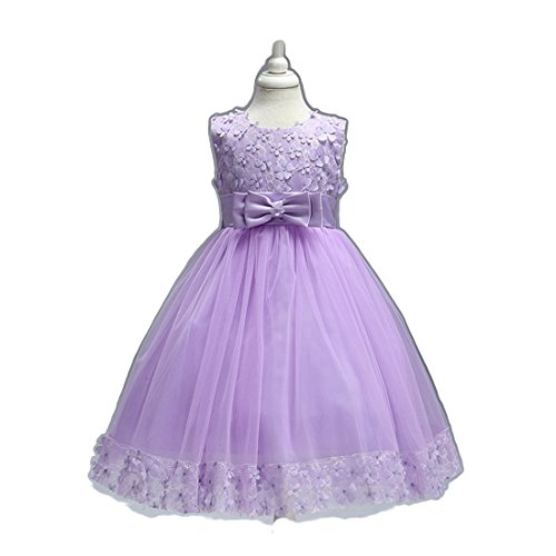 Girls Dresses for Toddlers SIze 4 6 5T Tutu Tulle Wedding Lace Ball Gowns Little Girl Dresses Size 5 Tea Length Lavender Christmas Beauty Cute Princess Pageant Elegant Dress With (Little Kids Lavender Apparel)