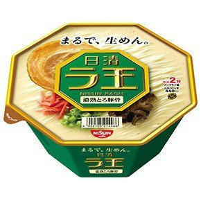 Nissin - Raoh, Japanese Instant Ramen Noodles, Pork Bone Soup, 4oz x 6 Bowls (For 6 Servings)[japan ()