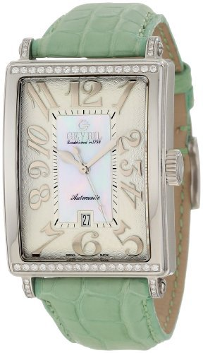 Gevril(ジェビル) Women's 6209NT Glamour Automatic White Diamond Watch B001CGHS74