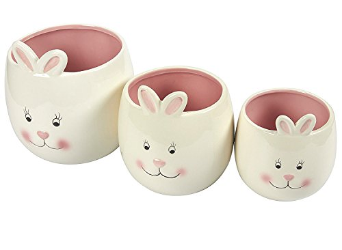 Rabbit Candy Bowls Set - 3-Pack Ceramic Bunny Snack Holders,
