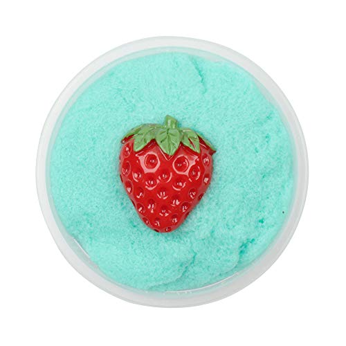Hisoul Decompressed Cloud Mud PP Boxed Colorful Strawberry Mixing Cloud Cotton Candy Slime Scented Stress Kids Clay Toy, for Any Child Favor, Gift, Birthday - 60ML (Sky Blue)