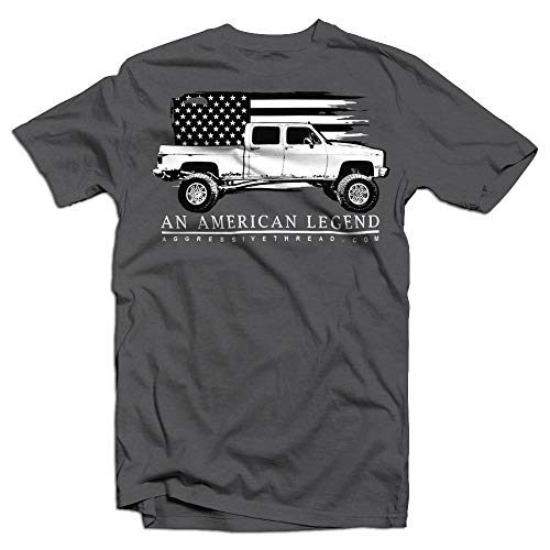- Aggressive Thread Crew Cab Square Body Chevy American Legend T-Shirt