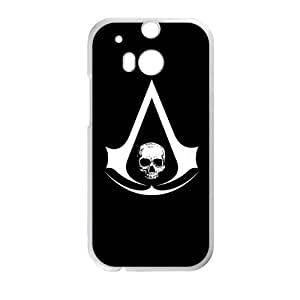Defender Case With Nice Appearance Assassin's Creed Logo Htc One M8 Shell Case Cover (Laser Technology)