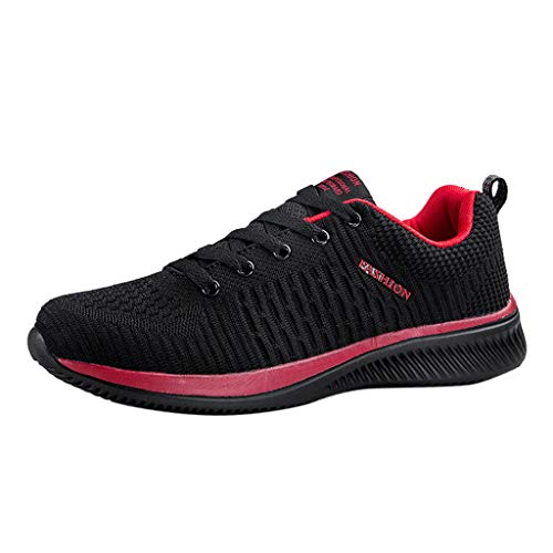 OrchidAmor Men's Casual Lightweight Comfortable Breathable Walking Sneakers Running Shoes Red ()