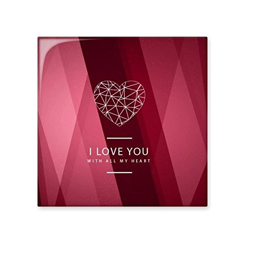 Valentine's Day Red Pink Love You With All My Heart Illustration Pattern Ceramic Bisque Tiles for Decorating Bathroom Decor Kitchen Ceramic Tiles Wall Tiles new