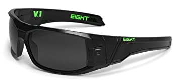 ba29845c56 Image Unavailable. Image not available for. Colour  Eight Eyewear V1  Sunglasses Gloss Black Green With Gray Polarized Lens