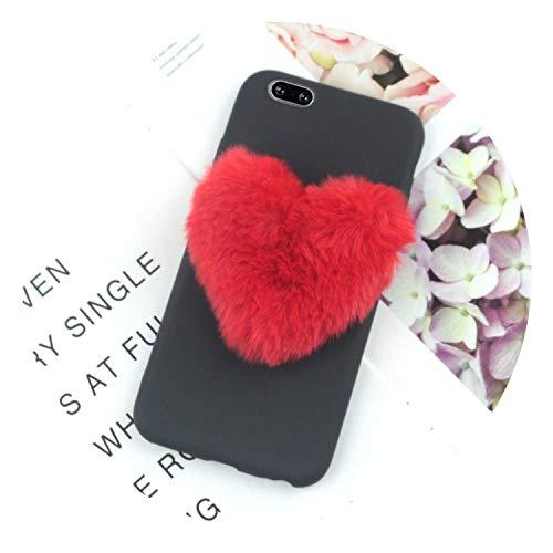 f699bdde20e7 Furry Love Hearts Cute Hair Phone Case for Samsung for Galaxy J4 2018 Cases  for Galaxy J2 Pro J3 J5 2017 J7 Prime J6 J8 2016 Cover,BigRedLove Black,J6  ...