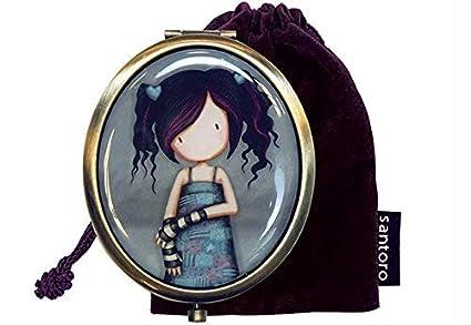 Santoro Gorjuss - Espejo compacto con bolsa de recuerdo ...