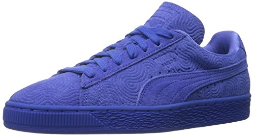 Puma WoMen Suede Colored WN's-w Classic Style Sneaker, Red, 8 M US Dazzling Blue