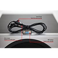 SummitLink Control Pod Bypass Cable with Volume Control for Logitech Z 2300 Computer Speakers