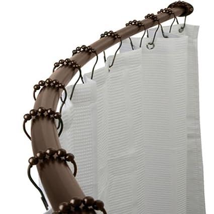 Amazon Adjustable Curved Shower Curtain Rod Bath Tub Accessory