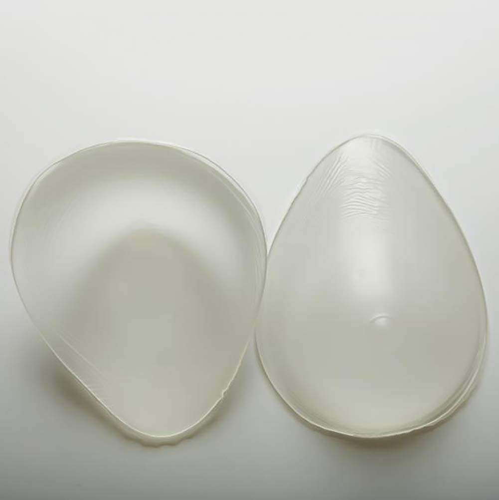 Love of Life 1Pair Mastectomy Silicone Breast Forms Women Soft Bra Inserts Waterdrop Shaped Breast Enhancers for Bras Swimsuits,2,500g/Pair/6x4x2in