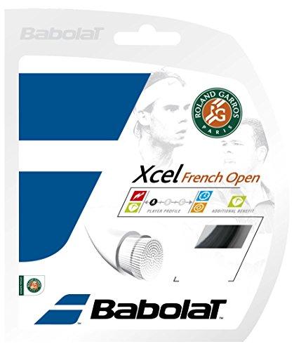 Open 17G Tennis Racquet String Black,40Ft (French Open Tennis Racquet)
