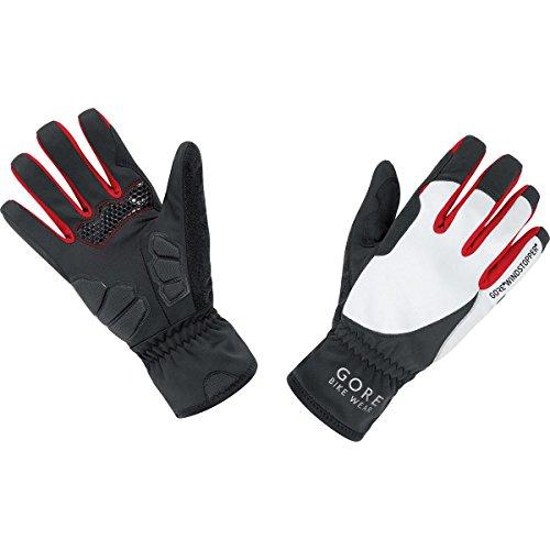 GORE BIKE WEAR Women's Power Lady Windstopper Gloves, Black/White, - Gore Glove White