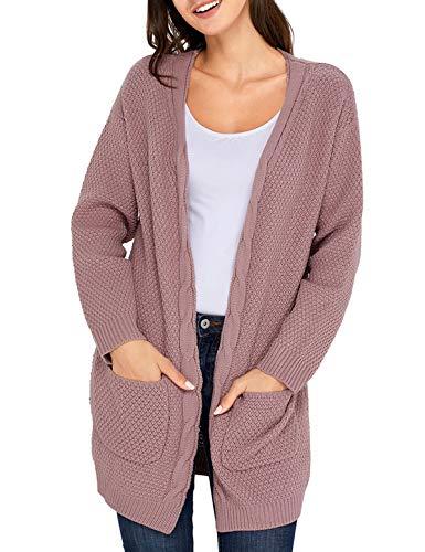 Coat Simple Sweater Pullover Jeune Rose en Maille Manteau Hiver Mode Gilets Cardigan Casual Tricots Mi Fashion Chandail Vestes Hauts Manches Automne Tops Femmes Longue Outwear Longues Pull PqPr8