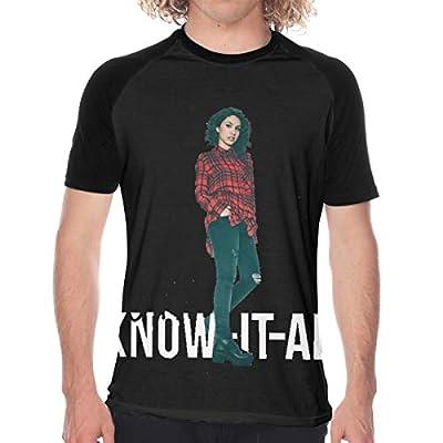 Ales-sia Cara Mens T-Shirts Graphic Comfortable Short Sleeve T Shirt Black