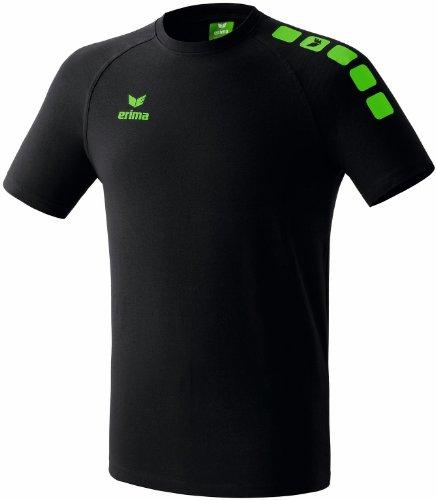 erima Uni T-Shirt 5-Cubes Promo, schwarz/green, XL, 608200