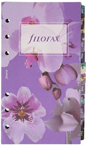- Filofax Refill Personal Compact, Week to View, Illustrated Floral, 5 Languages, 6.75 x 3.75 (C6341-2019)
