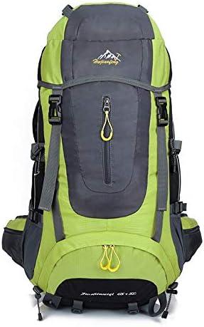 サイクリングバックパック 乗馬、ハイキング、キャンプ用65L高容量防水クライミングバックパック高性能バックパック (Color : Green, Size : 67*35*35)