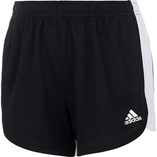 adidas 3 Stripe Blocked Short - Girls' Black Adi, M