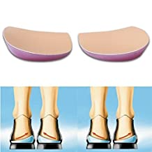 2 Pairs O/X Type Leg Orthopedic Insole with Exclusive Soft Gel Feet Corrective Pad
