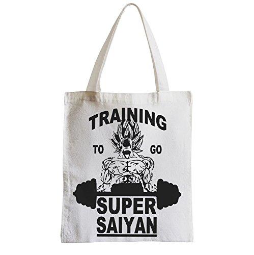 Große Tasche Sack Einkaufsbummel Strand Schüler Training zu gehen Super sayan Dragon Ball Z DBZ