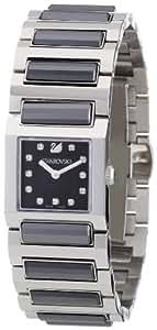 Swarovski Dresstime - Reloj analógico de mujer de cuarzo con correa de acero inoxidable plateada
