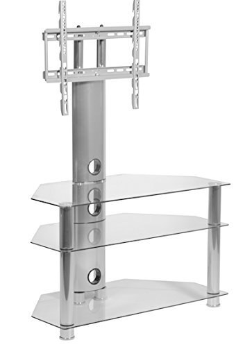MMT Glass TV Stand Cantilever - Fits LED Tvs, LCD Tvs, And P