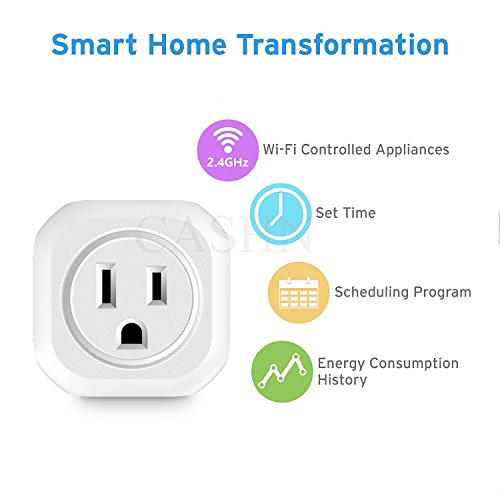ACASHNA HS108 Smart Plug, No Hub Required, Wi-Fi, Control your Devices from Anywhere, Works Amazon Alexa Echo and Google Assistant (2Pack) by ACASHNA (Image #3)