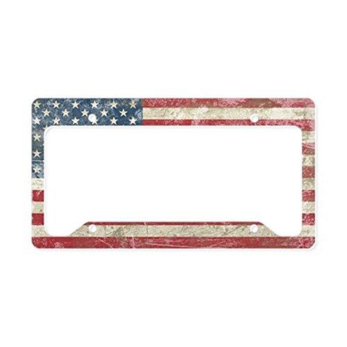 usa flag license plate frame - 9