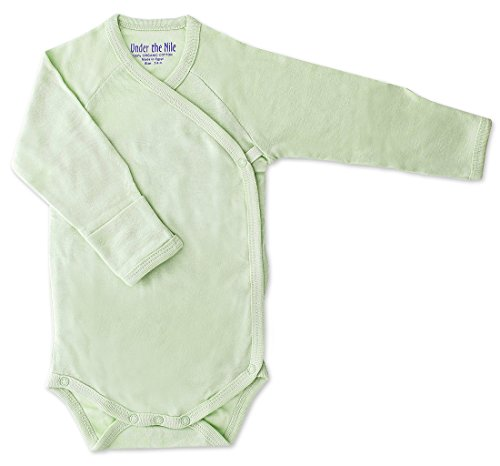 Under the Nile Long Sleeve Side Snap Babybody, 3-6 Months - Cat Nile