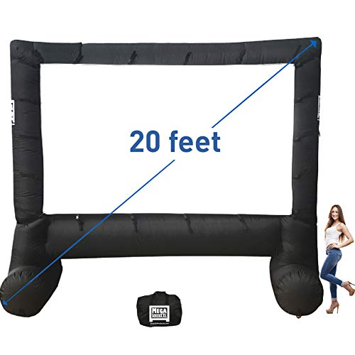 MEGA Screen Movie Screen - Inflatable Projection Screen- Portable Huge Outdoor Screen (MEGA Screen XXL)
