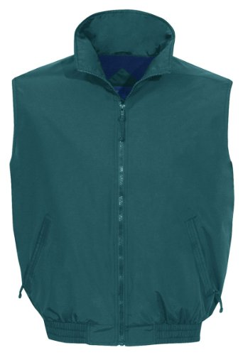 Tri-Mountain 8400 Ridge Rider Windproof/Water Resistant Toughlan Nylon Vest, FOREST GREEN / NAVY, X-Large