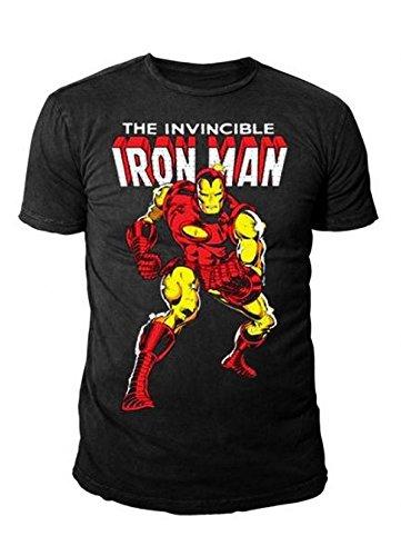 IRON MAN Retro Herren T-Shirt ISSUE 126 CLASSIC COVER Schwarz Gr. S-XL