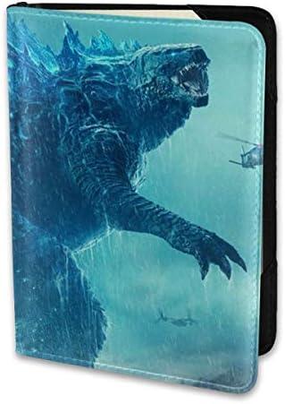 Godzillakingofmonsters ゴジラ モンスター ロゴ パスポートケース メンズ レディース パスポートカバー パスポートバッグ 携帯便利 シンプル ポーチ 5.5インチ PUレザー スキミング防止 安全な海外旅行用 小型 軽便