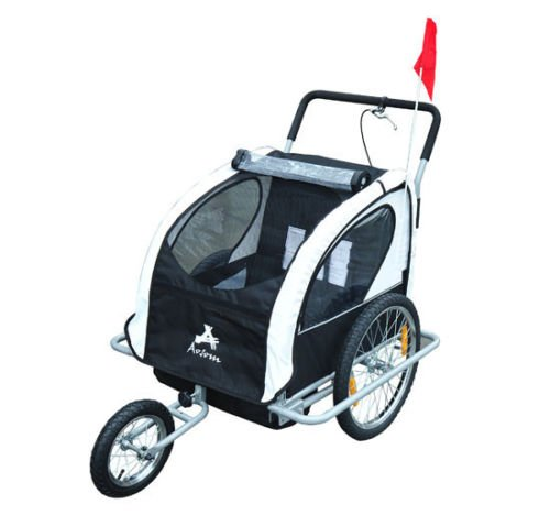 2In1 Double Baby Bicycle Bike Trailer And Stroller - 5