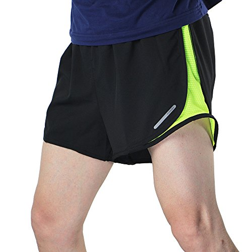 Lixada Men's 2 in 1 Running Shorts Quick Dry Marathon Training Fitness Running Cycling Sports Shorts Trunks