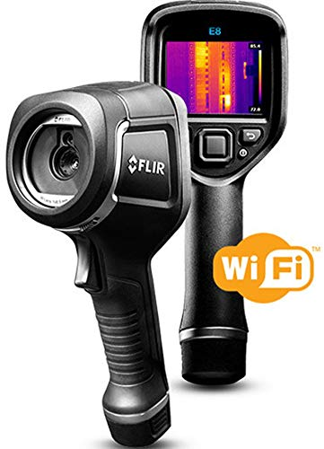 FLIR E8-XT - Handheld Infrared Camera - with Extended Temperature Range, MSX Image Enhancement Technology, Wi-Fi & Bluetooth for Instant Data Sharing - (320 x 240)