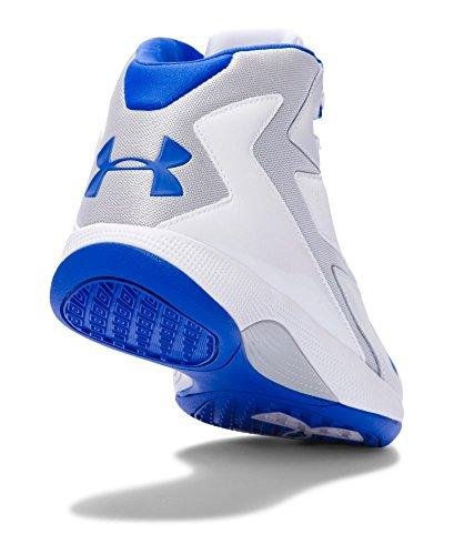 Under Armour UA del hombre Lockdown zapatos de baloncesto White/Aluminum/Ultra Blue
