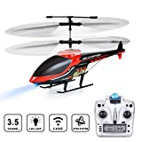 RC Helicopter, VATOS Remote Control Helicopter with Gyro and LED Light 3.5 Channel Alloy Mini Military Series Helicopter for Kids & Adult Indoor Micro RC Helicopter Toy Gift for Boys Girls