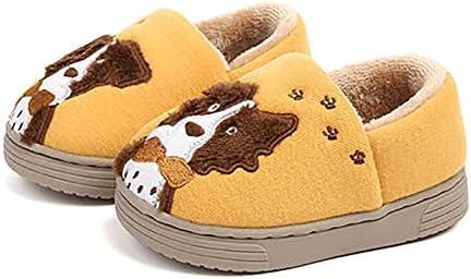 HAOMIANYA Zapatillas para niños de algodón de Dibujos Animados ...