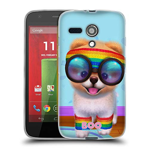 Official Boo-The World's Cutest Dog Rasta Character Art Soft Gel Case Compatible for Motorola Moto G (1st Gen) (Motorola Moto G Case Rasta)