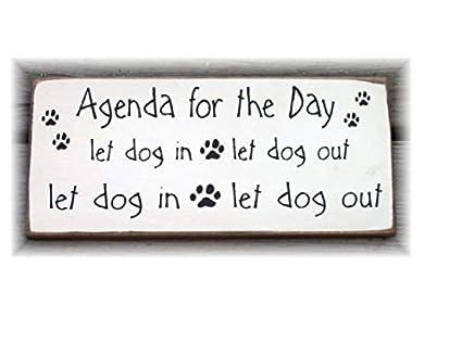 CELYCASY Agenda para el día Deje Que el Perro Entre en la ...