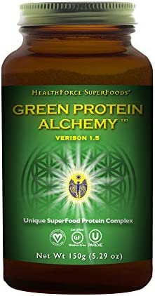 HealthForce SuperFoods Green Protein Alchemy Magic Mint – 150 grams – All Natural Plant Based Protein Powder, Made From Whole Foods – Vegan, Gluten Free – 6 Servings