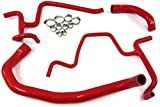 HPS 57-1326-RED-4 Red Silicone Radiator Coolant Hose Kit
