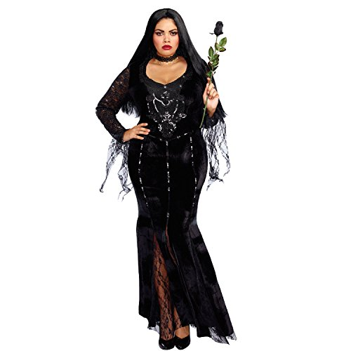 Dreamgirl Women's Frightfully Beautiful Plus Size, Black, 2X -
