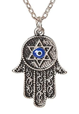 Hamsa Hand Star of David with Evil Eye 17