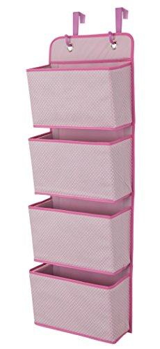 Delta Children 4 Pocket Over The Door Hanging Organizer, Barley Pink ()
