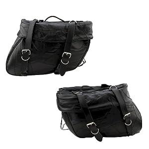 Amazon.com: 2pc Set of Leather Motorcycle Saddle Bags: Automotive