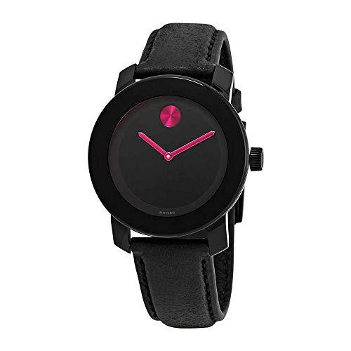 Movado Bold Black Pink Dial Ladies Women's Watch 3600482